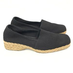 Easy Spirit Espadrille Loafers Black I-Asta